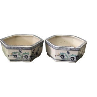 Chinoiserie Bulb Planters, Pair For Sale