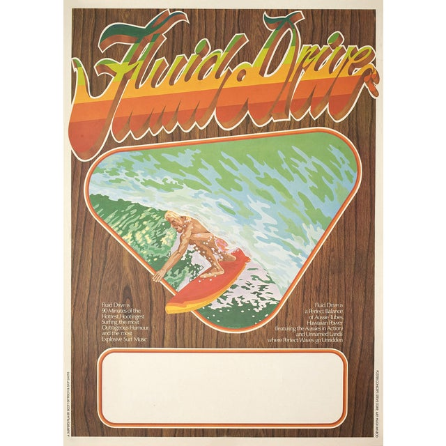 """""""Fluid Drive"""" 1974 Surfing Film Poster - Image 2 of 2"""