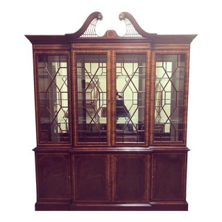 Vintage Hickory White China Cabinet For Sale