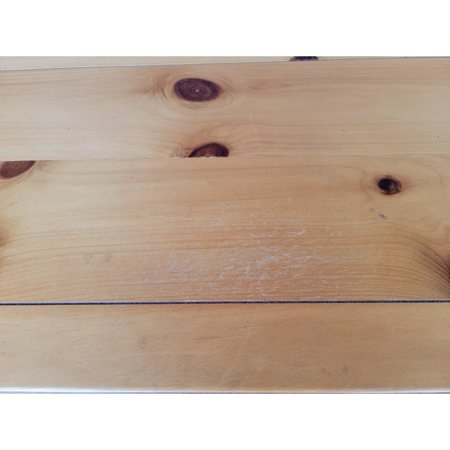 1980s Rustic Console Table with Drawers For Sale - Image 10 of 13