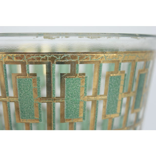 Vintage Culver Green and Gold Ice Bucket - Image 4 of 6