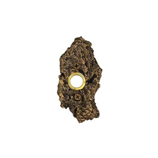Bark Closed Lodgepole Doorbell with Traditional Patina For Sale