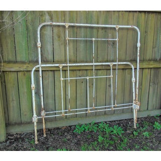 Distressed Antique Iron Headboard & Footboard Preview