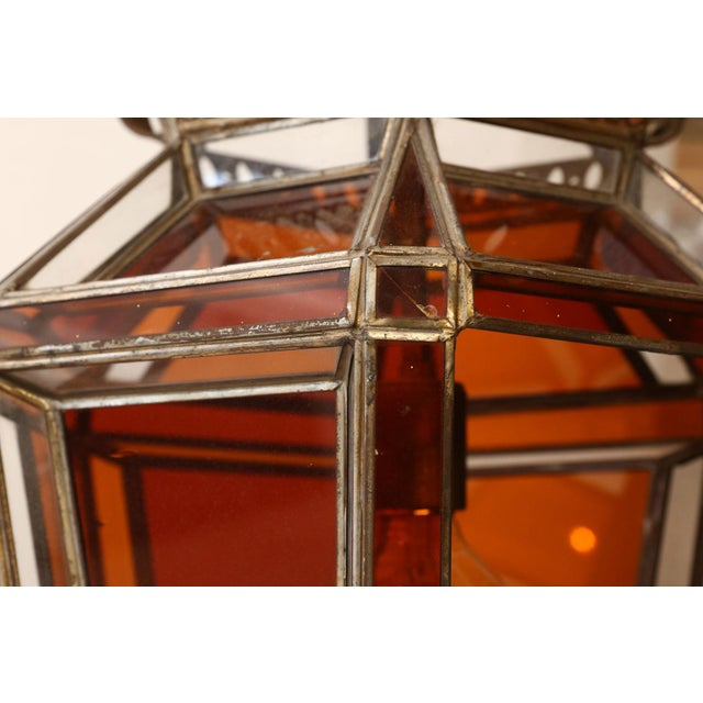 Andalusian Amber Glass Lantern For Sale In Houston - Image 6 of 7