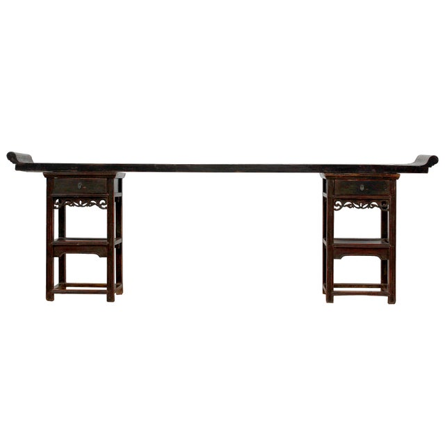 Antique Sarreid LTD Chinese Ming Style Console Table - Image 2 of 4