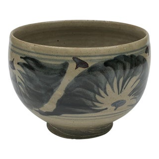 Cornwall Bridge Pottery Handthrown Stoneware Bowl For Sale