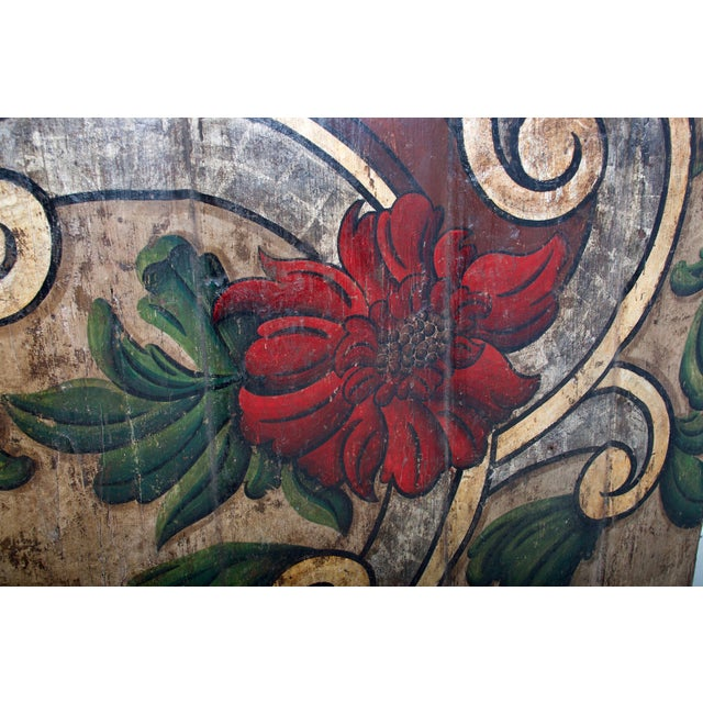 19th Century Portugese Polycromed Headboard, For Sale - Image 9 of 12