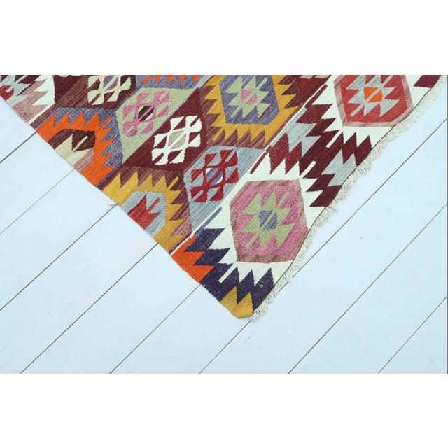 1960s 1960s Vintage Tavas Nomad's Flat Weave Rug For Sale - Image 5 of 12