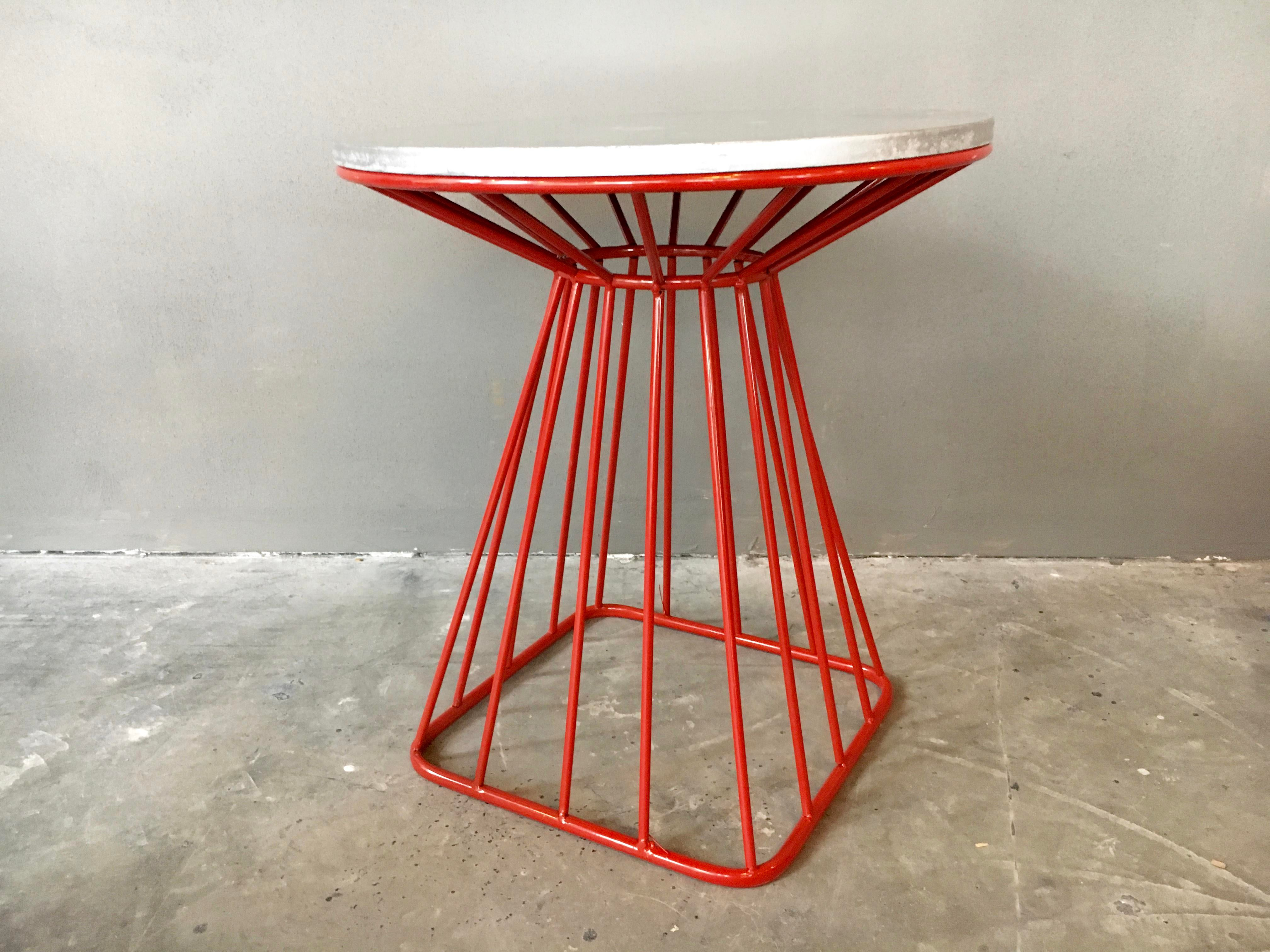 Red wire table wiring info platner style mid century red wire side tables a pair chairish rh chairish com nec wire table magnet wire table greentooth Images
