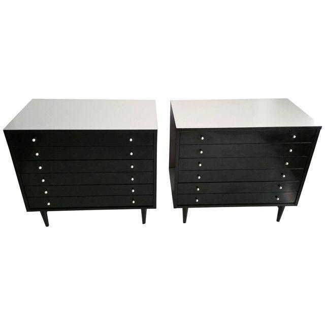 American by Martinsville Black Chests - A Pair - Image 2 of 5