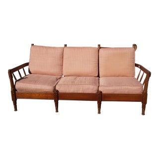 Ethan Allen Mid-Century Americana Rock Maple Sofa For Sale