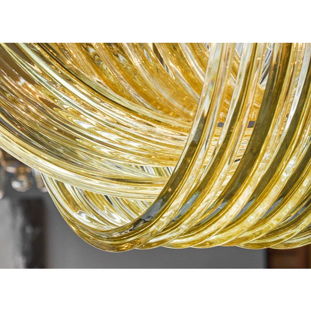 "Glass Customizable Murano Glass ""Curve"" Chandelier For Sale - Image 7 of 10"