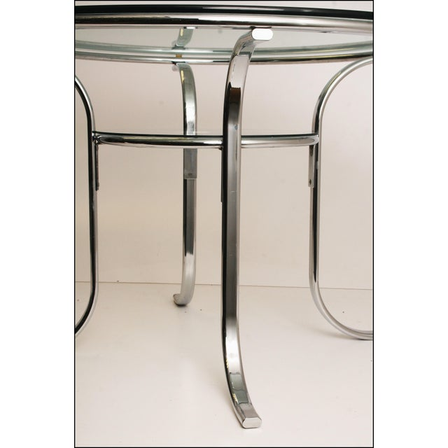Mid-Century Modern Chrome & Glass Dining Table - Image 8 of 11
