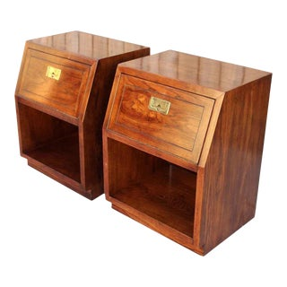 Henredon Scene One Campaign Nightstands — a Pair For Sale