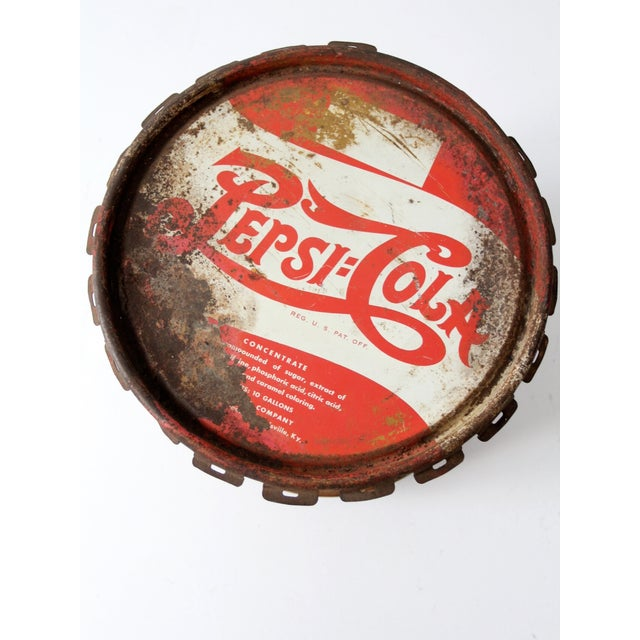 Vintage Pepsi-Cola Syrup Can For Sale - Image 6 of 8