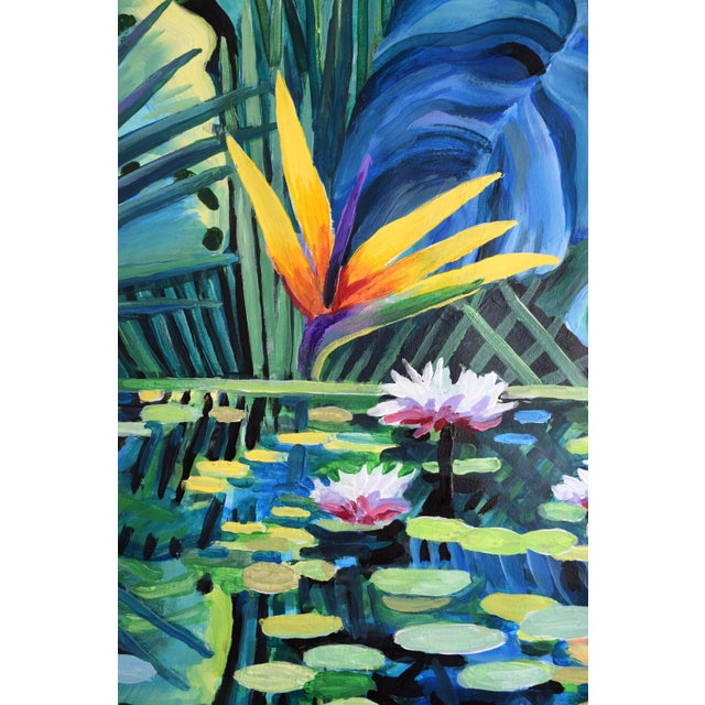 """Reflection"" Tropical Acrylic Painting For Sale - Image 9 of 10"