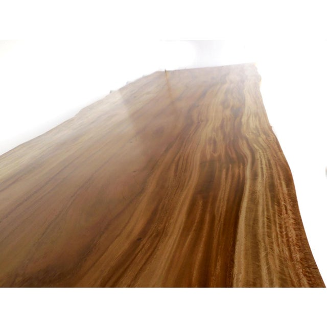 Long Live Edge Organic Modern Albezia Table For Sale - Image 9 of 11