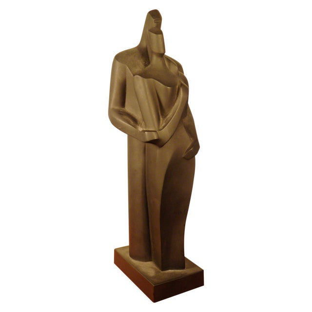 Modern Sculpture Embracing Man and Woman - Image 1 of 8