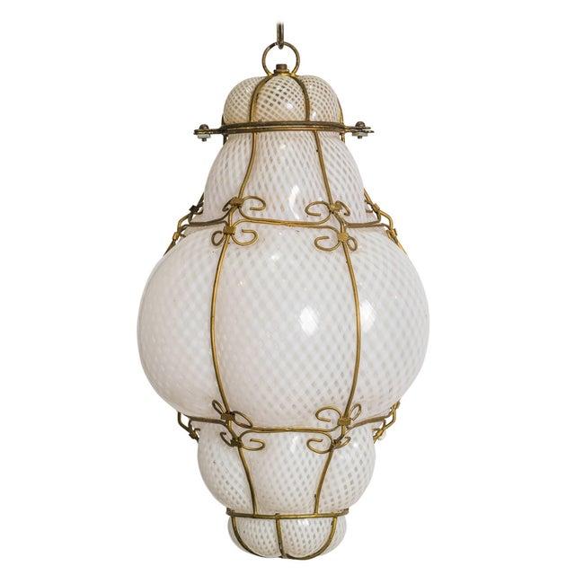 Italian Handblown Murano Lantern For Sale - Image 9 of 9