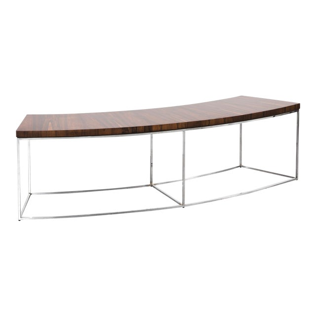 Milo Baughman Rosewood Bench For Sale