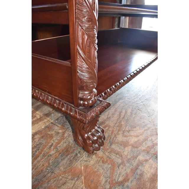 Hollywood Regency Restored Antique Flame Mahogany Dining Server Buffet Sideboard For Sale - Image 3 of 9