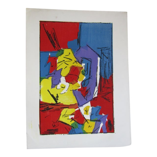 """Original Abstract """"Strong Gallery"""" Serigraph by Harris Strong For Sale"""