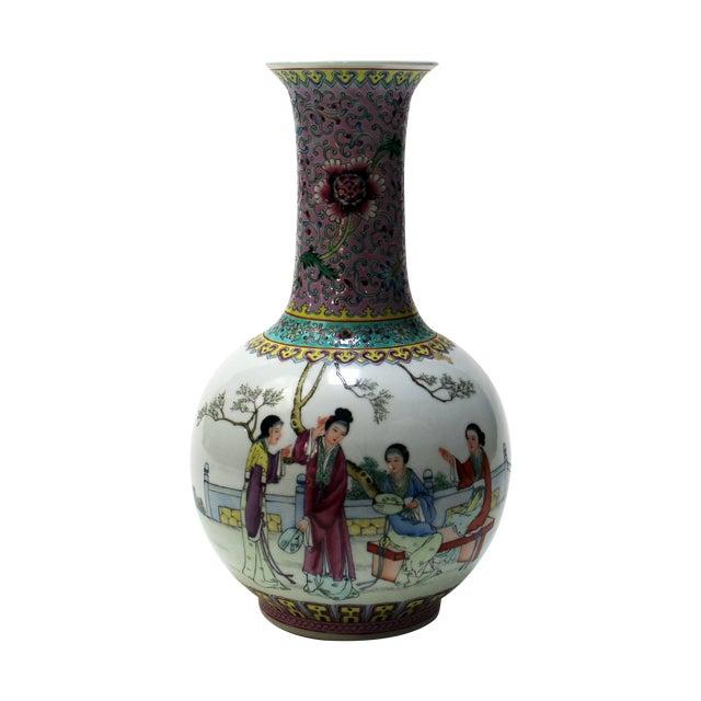 Chinese Bottle Shaped Porcelain Vase - Image 1 of 8