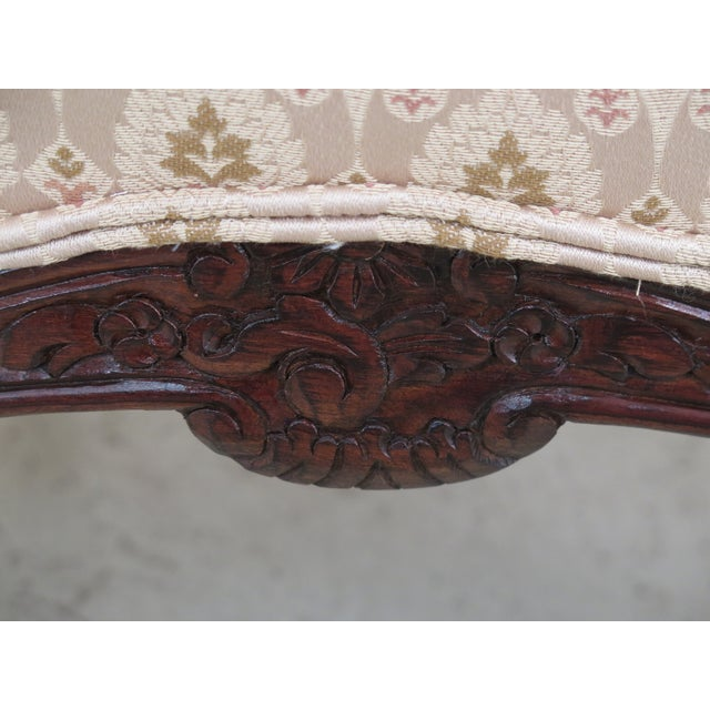 Textile 1990s Vintage Drexel Heritage French Louis XV Style Upholstered Chair For Sale - Image 7 of 11