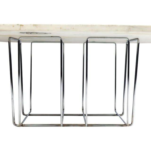 Marble & Chrome Coffee Table - Image 3 of 9