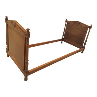 19th Century French Empire Walnut Bedframe For Sale
