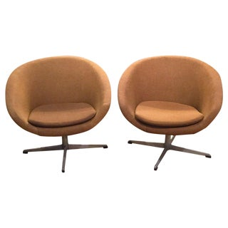 Mid-Century Swedish Signed Pod Chairs - A Pair