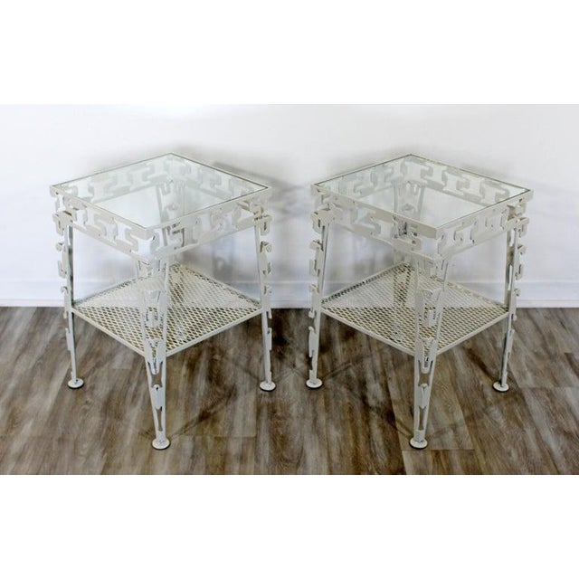 Mid-Century Modern White Set of Patio Tables Coffee Pair Side For Sale - Image 11 of 12