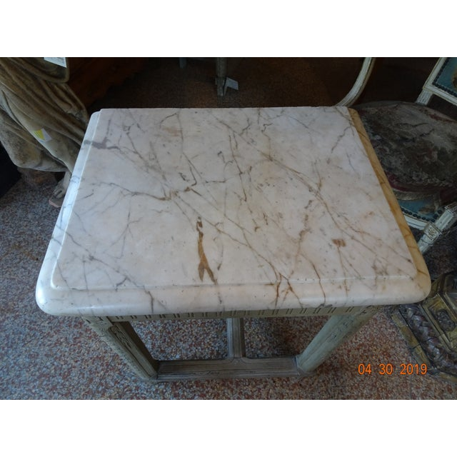 Pair of French Marble Top Consoles For Sale - Image 4 of 11