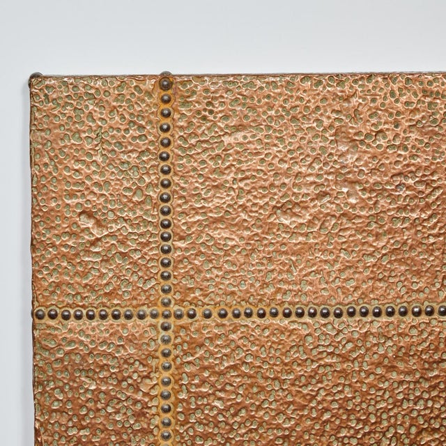 1940s Mid-Century Copper and Brass Panel From France For Sale - Image 5 of 6