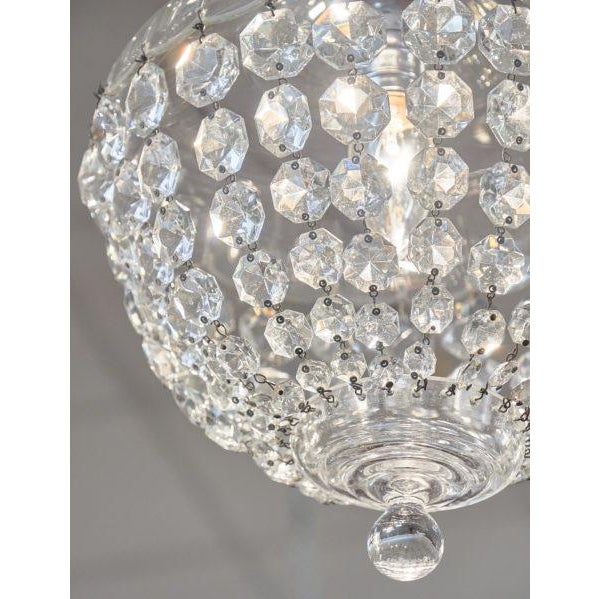 Antique Crystal Baccarat Chandelier For Sale - Image 9 of 10