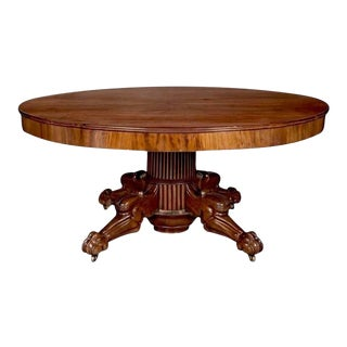 Period Regency Cuban Mahogany Round Dining Table
