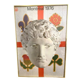 """1976 """"Classical Statue"""" Montreal Olympic Framed Poster For Sale"""