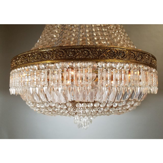 Circa 1920 French Empire Style Chandelier For Sale - Image 4 of 6