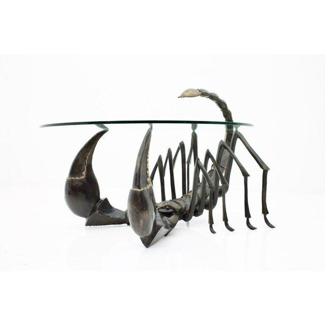 Bronze Scorpion Coffee Table Attributed to Jacques Duval-Brasseur France, 1970s For Sale - Image 11 of 11