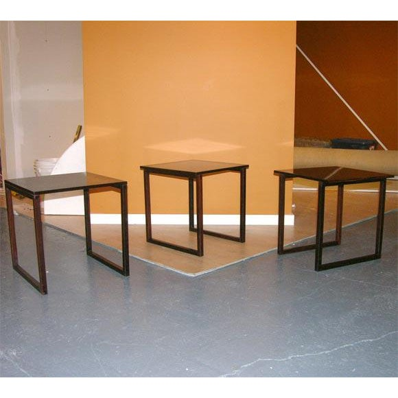 Rosewood Danish Rosewood Cube of Nesting Tables - Set of 3 For Sale - Image 7 of 7