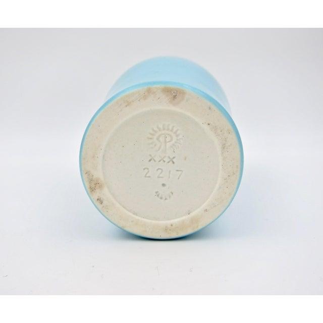 1930 Vintage Rookwood Pottery Arts & Crafts Blue Sunflower Vase For Sale - Image 11 of 12