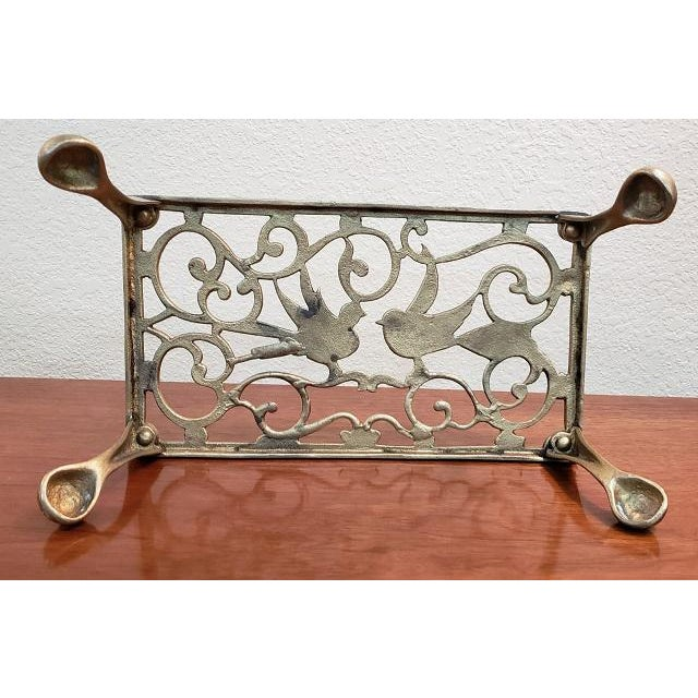 Early 20th Century George III Style Brass Fireplace Trivet For Sale - Image 5 of 7