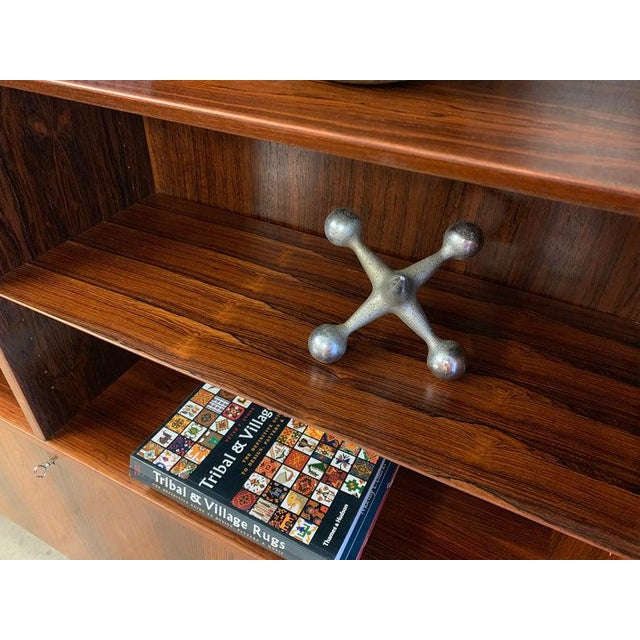 Wood Danish Mid Century Modern Rosewood Bookcase / China Cabinet For Sale - Image 7 of 11