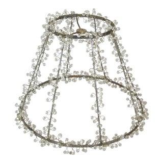 Beaded Lamp Shade Frame For Sale