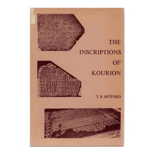 "1971 ""The Inscriptions of Kourion"" Coffee Table Book For Sale"