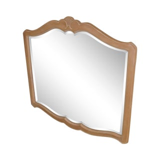 Ethan Allen French Country Maple Frame Beveled Mirror For Sale