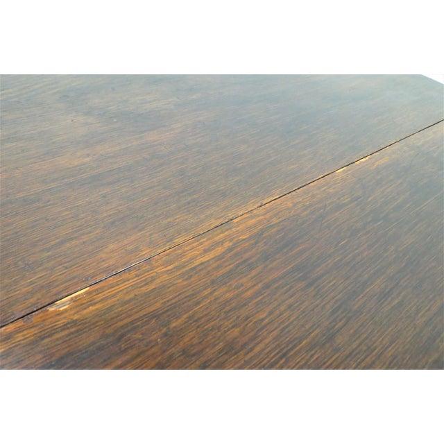 English Drop Leaf Gate Leg Tiger Oak Apartment Table For Sale - Image 9 of 10