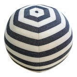 "Image of Forsyth Kule Stripe Ball Pillow, 12"" For Sale"
