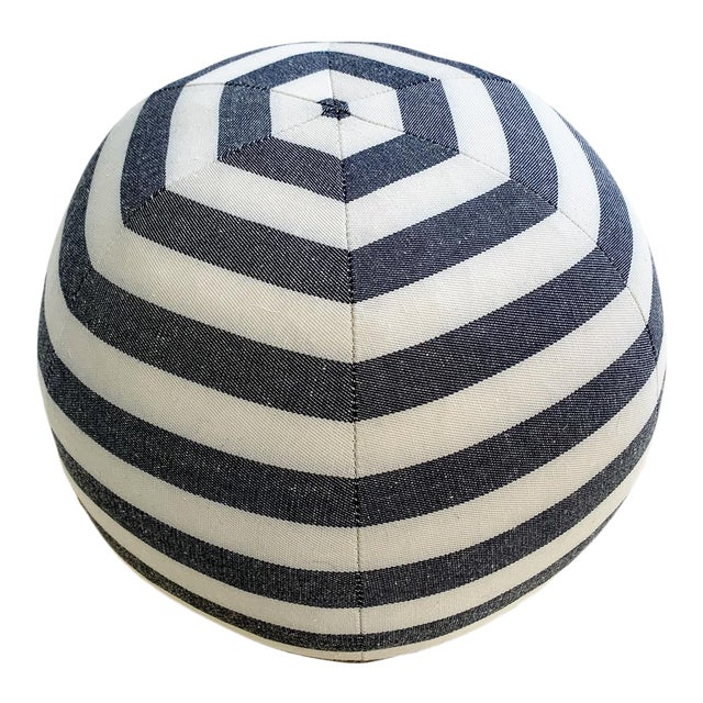 "Forsyth Kule Stripe Ball Pillow, 12"" For Sale"
