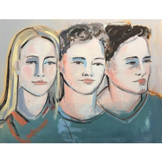 Portrait of Three Women Painting For Sale
